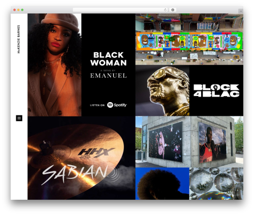 Blomma premium WordPress theme - mckenziebarnes.com