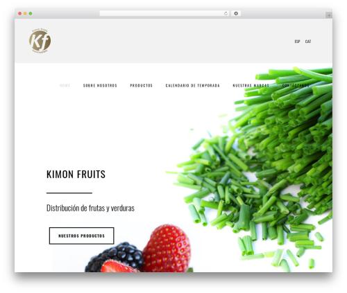 Bridge theme WordPress - kimonfruits.com