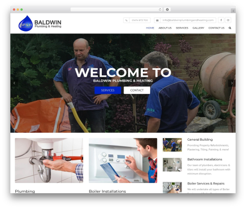 Construction company WordPress theme - baldwinplumbingandheating.com