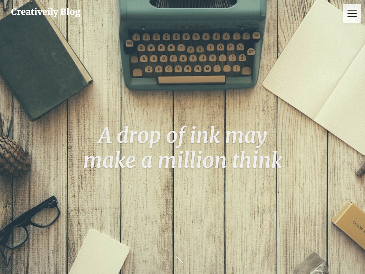 Creativeily Blog WordPress template for business