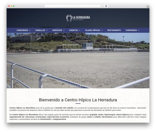 Equestrian best WordPress theme - centrohipicolaherradura.es