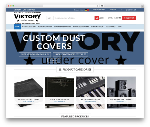 Flatsome top WordPress theme - viktoryshop.com