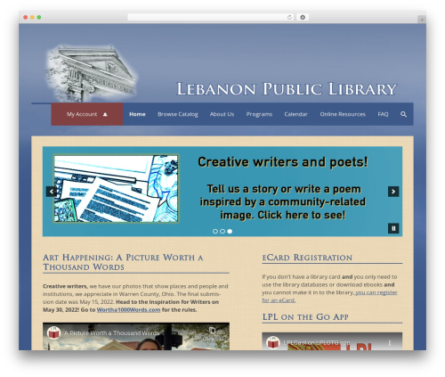 Lebanon 2016 WordPress template - lebanonlibrary.org