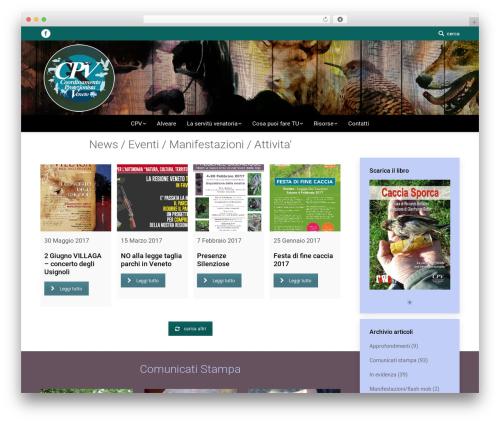 The7 WordPress theme - faunalibera.it