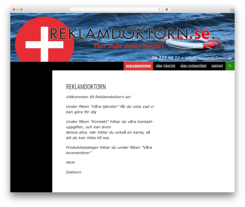 Twenty Fourteen free WordPress theme - reklamdoktorn.se