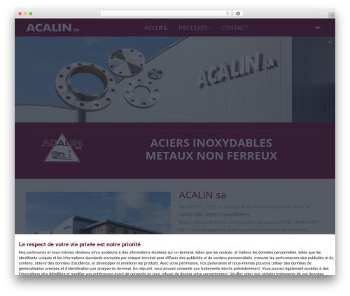 WordPress theme The7 - acalin.be