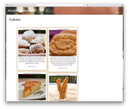 WordPress website template Sydney - alrack.enterprises