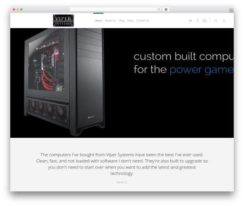 Eden WordPress gaming theme - vipercomputer.com