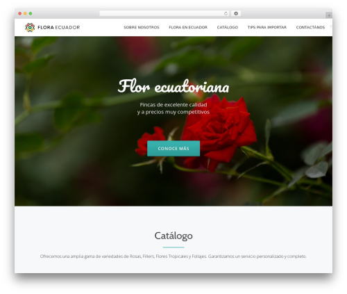 Parallax One WordPress template - floraecuador.com