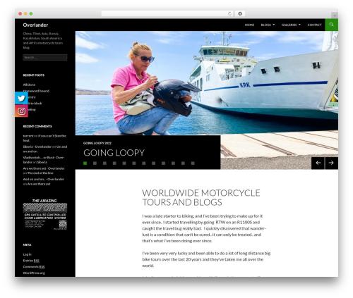 Twenty Fourteen WordPress free download - overlander.bike
