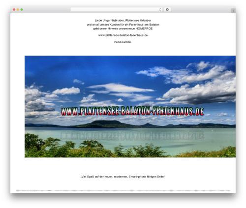 Narcos WordPress theme - plattensee-unterkunft.de