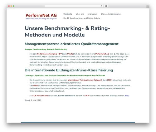 Singularity template WordPress free - performnet.ch