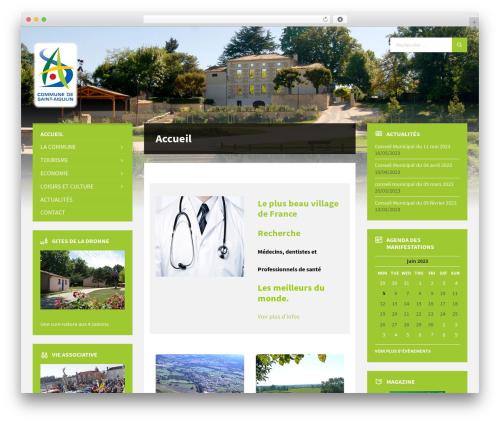 TownPress WordPress page template - saint-aigulin.fr