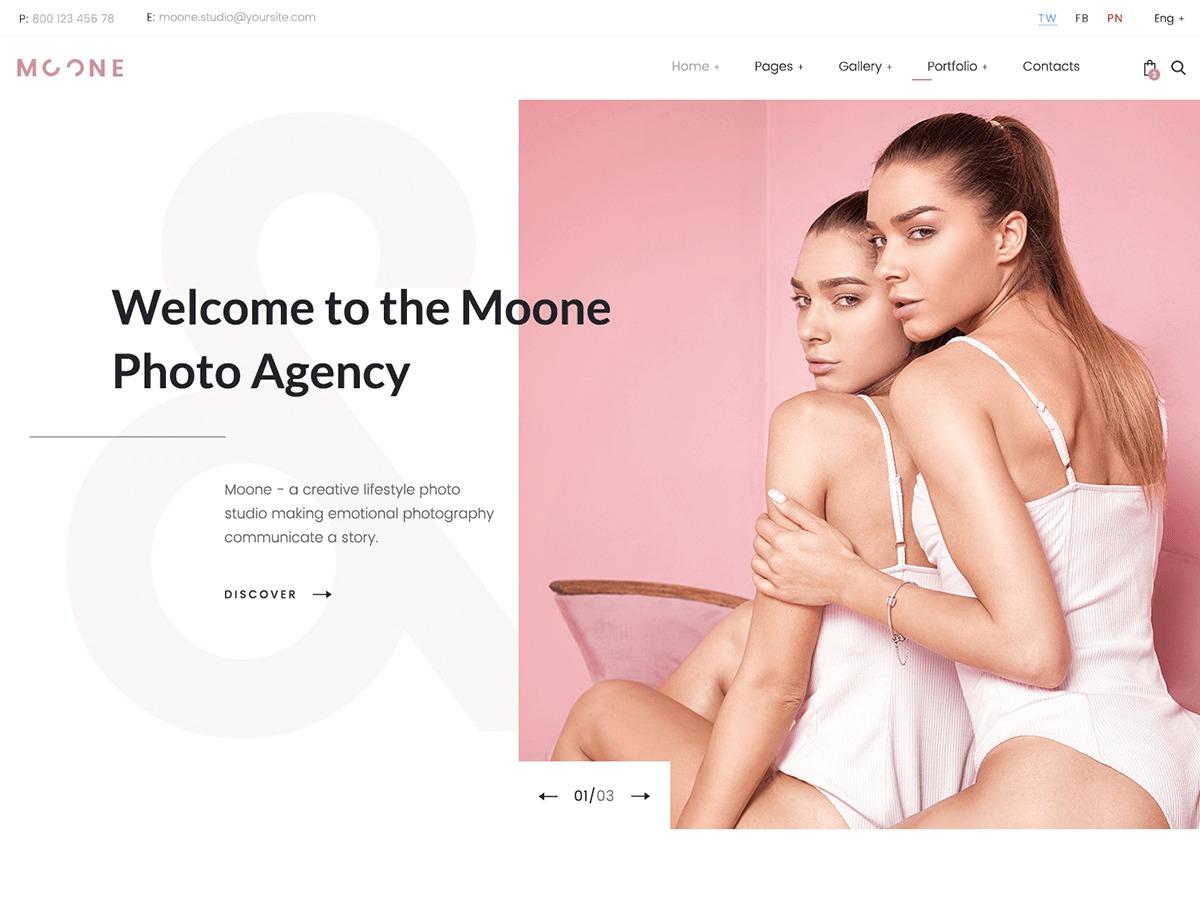 Best WordPress template Moone - Child
