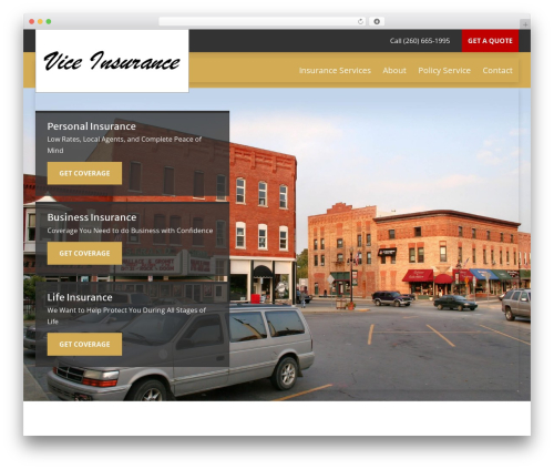 Best WordPress theme BrightFire Stellar - viceinsurance.com