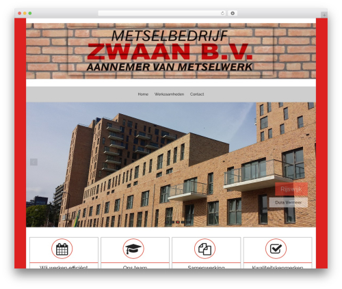 Hathor Pro WordPress theme - metselbedrijfzwaan.nl
