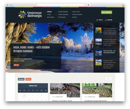 Biosphere WordPress website template - umjetnost-davanja.hr