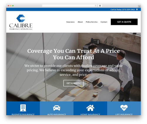 BrightFire Stellar business WordPress theme - calibreinsuranceadvisors.com