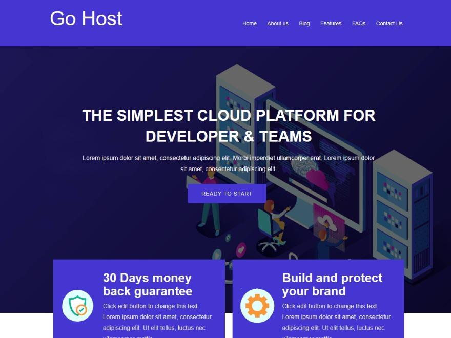 Gohost company WordPress theme