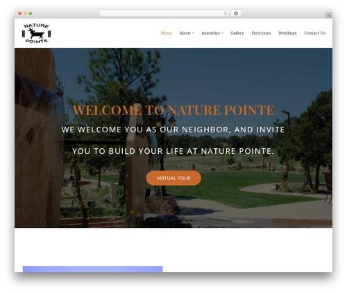 neve WordPress page template - naturepointe.com
