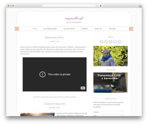 Sugar and Spice WordPress blog theme - szymotka.pl