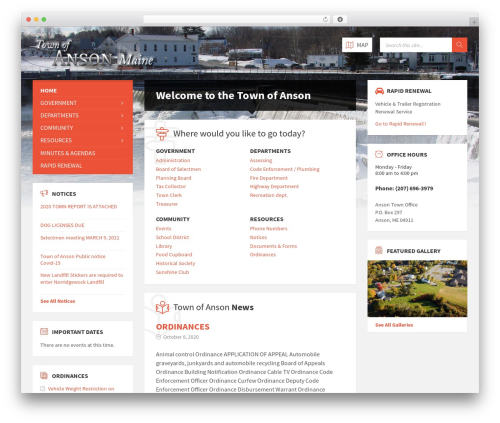 WordPress theme TownPress - ansonmaine.town