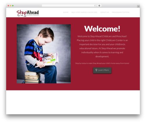 Best WordPress template X - stepaheadchildcare.org
