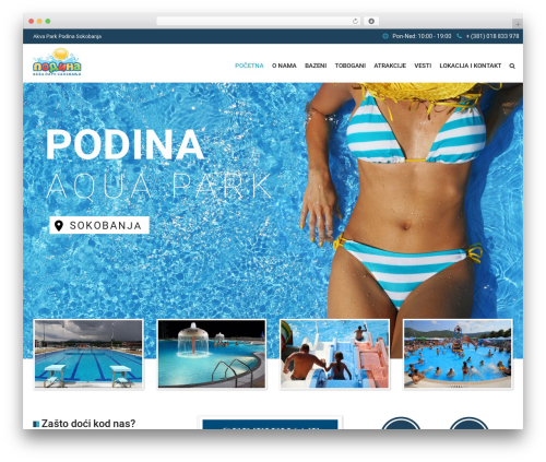 Best WordPress theme SwimmingPool - akvaparksokobanja.rs