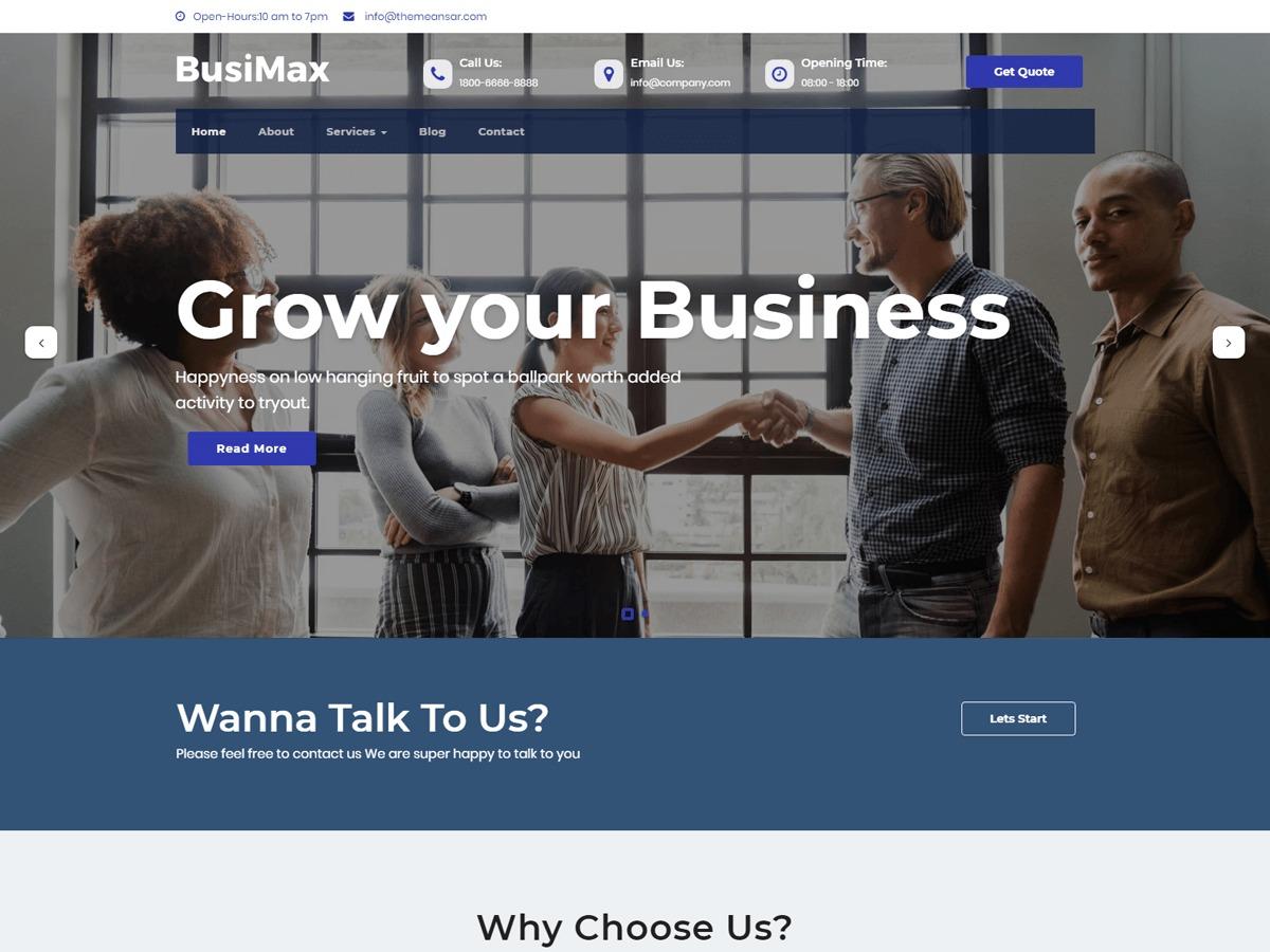 BusiMax WordPress gallery theme