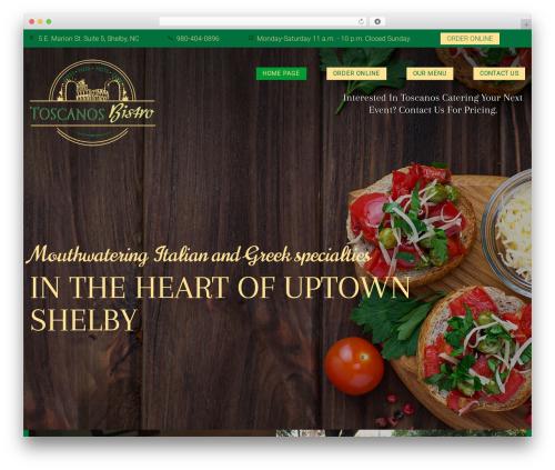 Italica WordPress pizza theme - toscanosbistro.com
