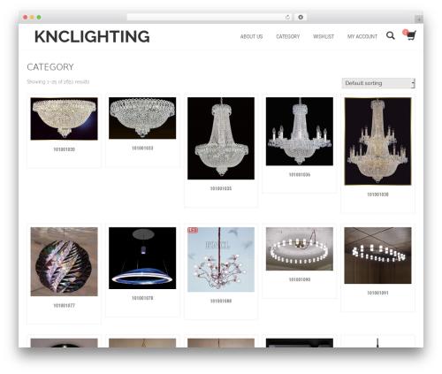 Shopera WordPress ecommerce theme - knclighting.net