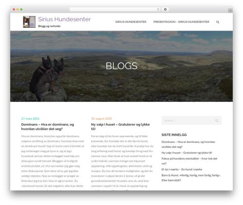 Theme WordPress Pet Business - siriushundesenter.com