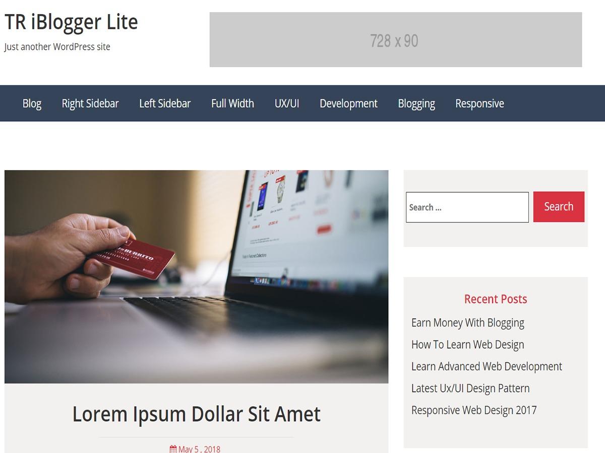 TR iBlogger Lite WordPress blog theme