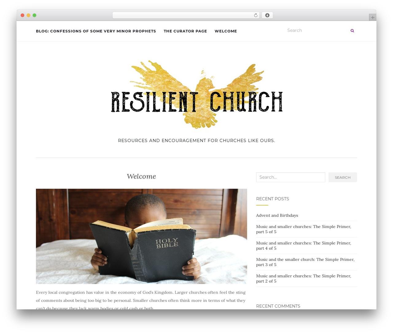 Activello free WordPress theme - resilientchurch.org