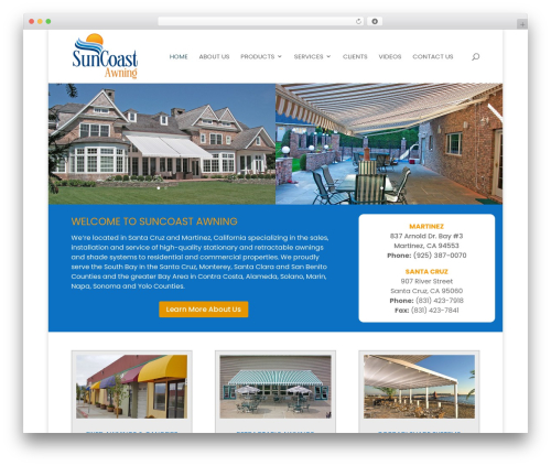 Divi WordPress theme - suncoastawning.com