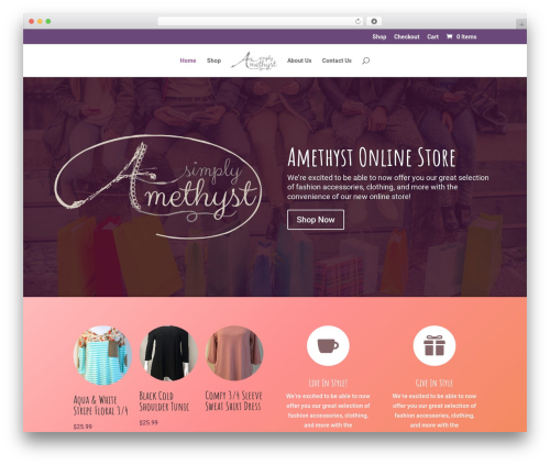 Divi WordPress theme - simplyamethyst.com
