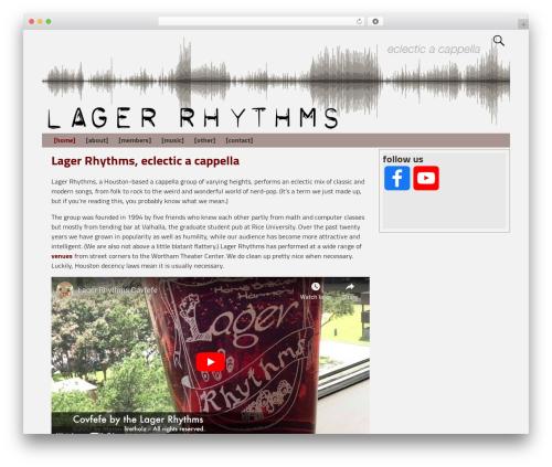 Weaver Xtreme free WordPress theme - lagerrhythms.com