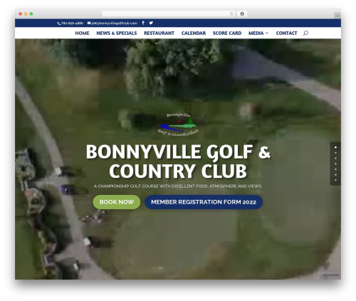WordPress theme Divi - bonnyvillegolfclub.com