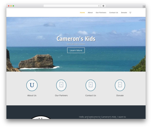 WordPress theme Divi - cameronskids.org