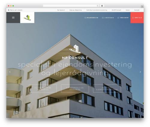 Best WordPress template Atelier - npconsult.dk