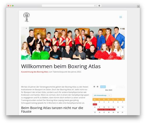 Betheme WordPress theme design - boxring-atlas.de