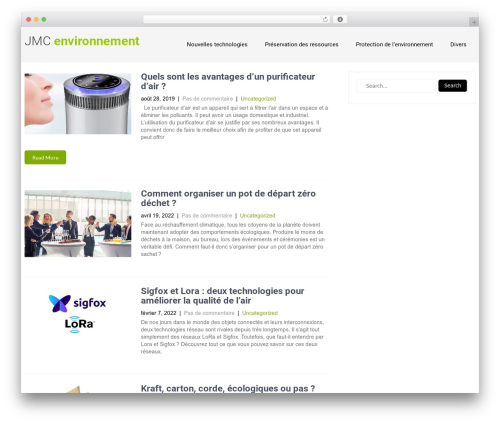 WordPress theme Eco Friendly Lite - jmc-environnement.com