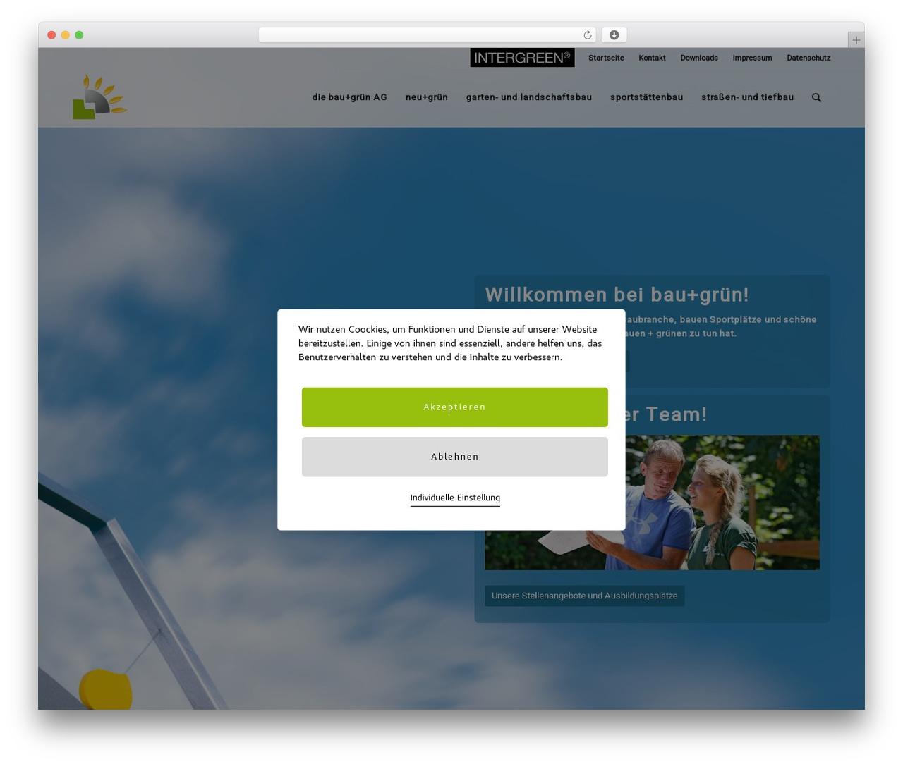 Enfold WordPress theme - bau-gruen.de