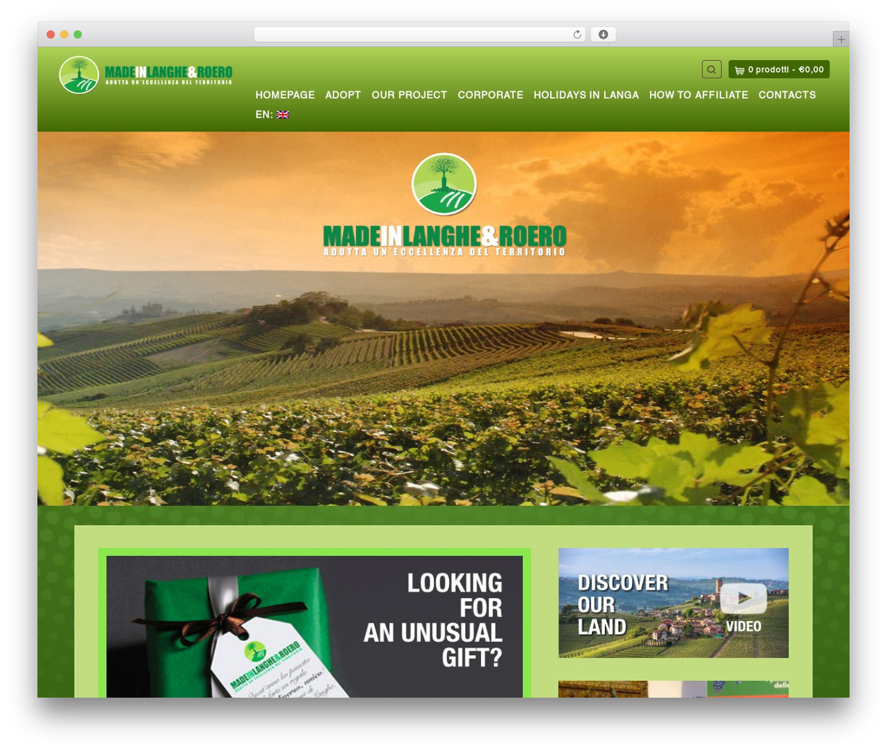 Organic Web Shop best WordPress theme - madeinlangheroero.it