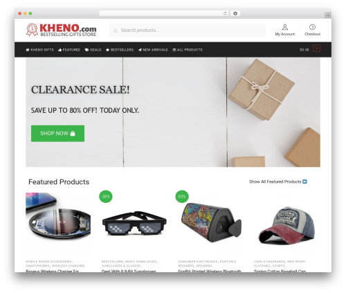 Shoptimizer WordPress theme - kheno.com