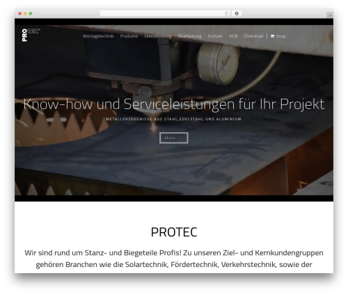 Skylar WordPress theme - protec.nrw