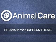 WordPress website template Animal Care
