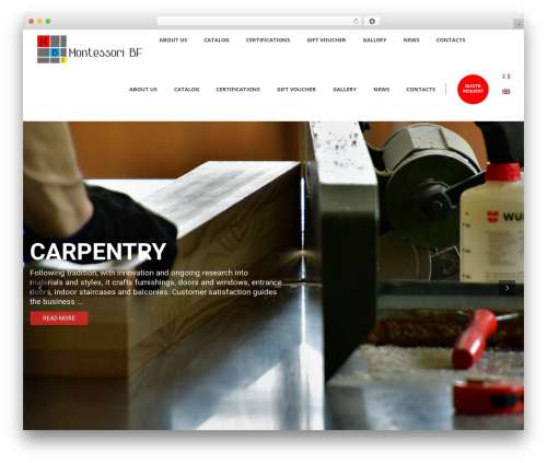 Averly WordPress website template - montessoribf.com