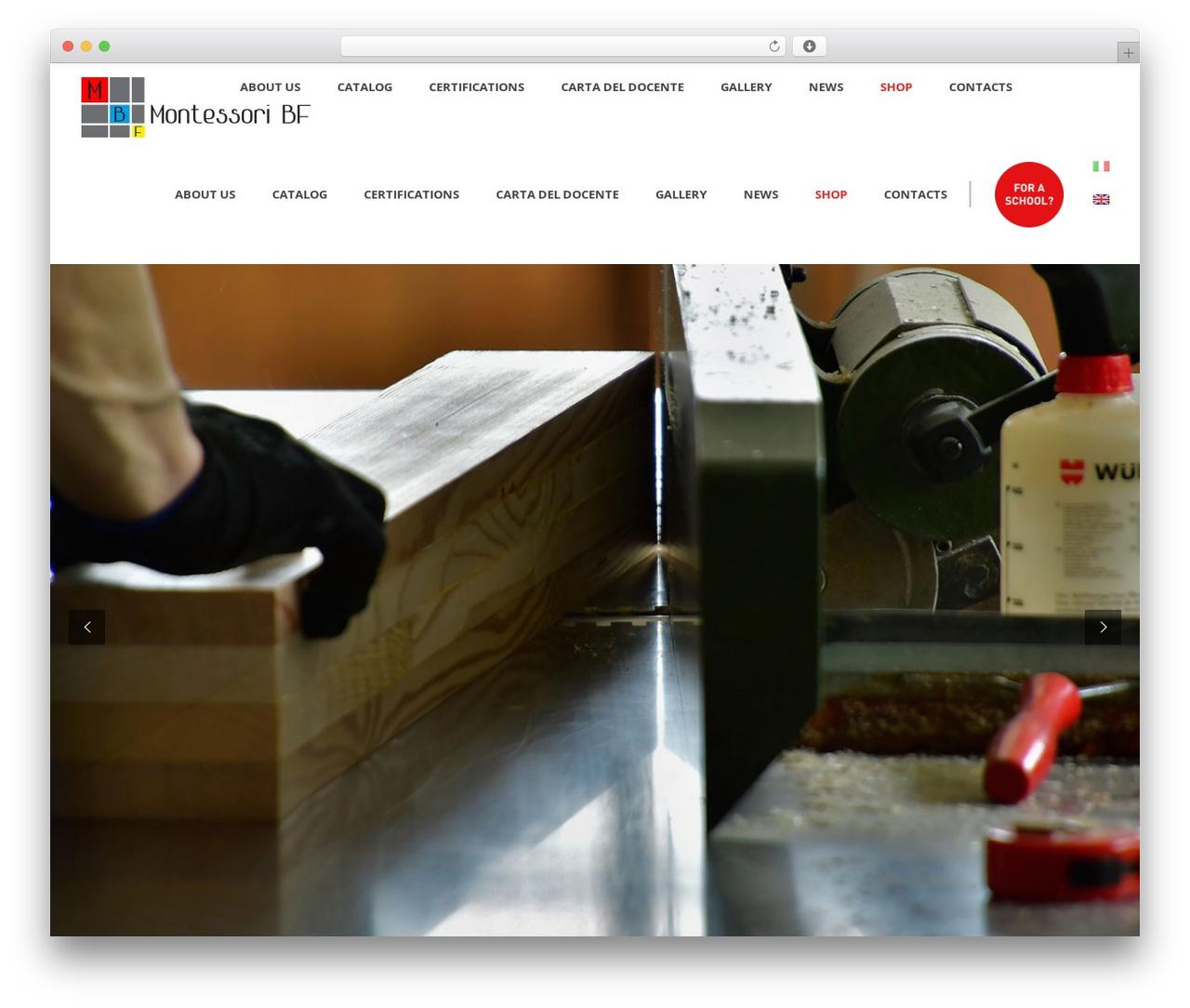 Averly WordPress website template - montessoribf.com