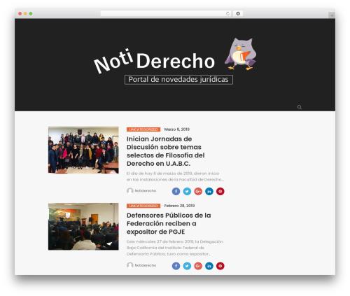 Peflican WordPress theme - notiderecho.com